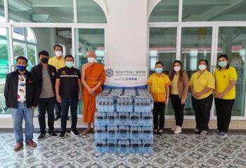 <span>ชลบุรี-IWRM., โรงเรียนโกศลวิทยา เร่งส่งมอบน้ำดื่มสภากาชาดไทย และศูนย์พักคอย ในพื้นที่อ.พานทอง จ.ชลบุรี</span>